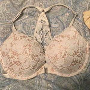 Victoria's Secret Very Sexy White Crochet Push Up